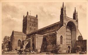 Vintage Postcard TEWKESBURY Abbey N.W by Francis Frith & Co. Ltd No. 765B