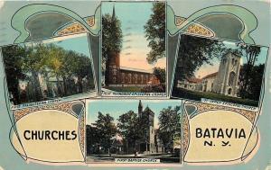 Batavia New York~Art Nouveau Group of Churches~St James~ME~1st Baptist~Presb~'13