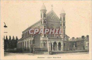 Old Postcard Amiens church Saint Roch