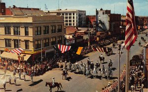 Frontier Days Parade, Cheyenne, Wyoming, Postcard, Used in 1964