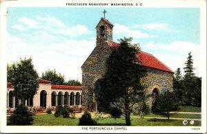 Vtg 1920s Franciscan Monastery The Portiuncula Chapel Washington DC Postcard
