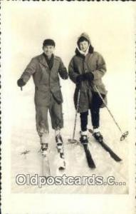 Ski, Skiing Postcard Post Card Old Vintage Antique