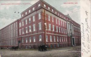 Maryland Baltimore Maryland University Hospital 1908