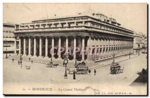 Bordeaux - The Grand Theater - Old Postcard