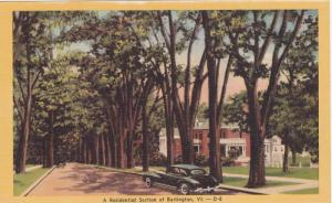 A Residential Section of Burlington, Vermont,  30-40s