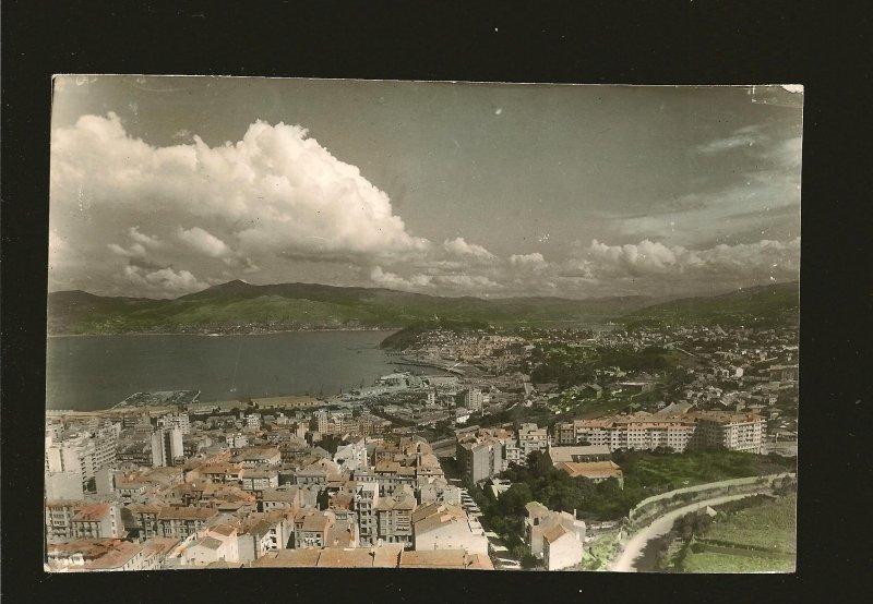Postmark 1962 Lisbon Portugal VIGO City View Real Photo Postcard
