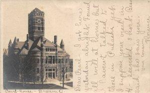 G45/ Bryan Ohio RPPC Postcard 1906 Court House Building