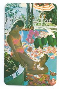 Hotel Las Brisas Acapulco Mexico Couple Swimming Pool 1973