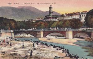NICE, La Paillon et la Tour Saint-Francois, Alpes. Maritimes, France, 00-10s