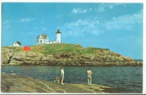 Nubble Light, Cape Neddick, York Beach Maine unused Postcard