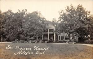 F35/ Allegan Michigan RPPC Postcard c1920s John Robinson Hospital