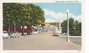 Michigan Charlevoix Bridge Street Curteich