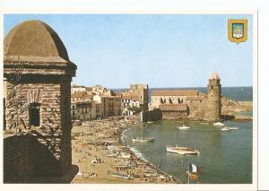 Postal 031557 : Collioure. Vue sur le port et leglise Saint Vincentm depuis l...