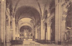MILANO, Lombardia, Italy, 1900-1910's; Interno Chiesa S. Ambrogio