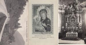 Cortina Zardini French Alps Holy Mary Della Badia Greca 3x Postcard s
