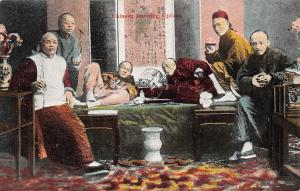 China Chinese Smoking Opium, Native Men Smoke