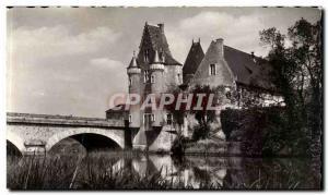 La Fleche Old Postcard The chaetau Carmelite along the Loir