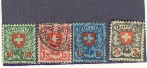 s1898 stamp Used FVF Switzerland Scott Number 200-203 SCV 31.00