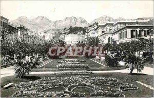 Old Postcard Menton Flowery Garden