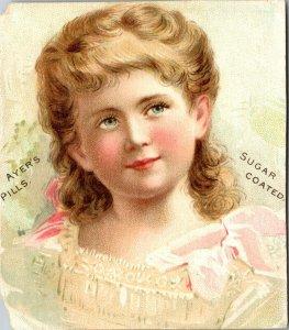 LOWELL, MASS. - VICTORIAN ADVERTISING TRADE CARD -- AYER'S PILLS MEDICINE