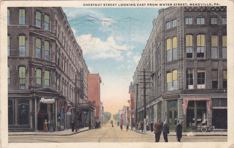 Chestnut Street looking East , MEADVILLE , Pennsylvania , PU-1918