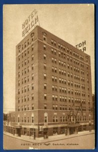 Hotel Reich Gadsden Alabama al old postcard