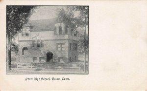 Pratt High School, Essex, Connecticut, Very Early Postcard, Unused