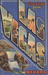 Las Vegas, Nevada, USA Large Letter Town Unused