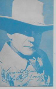 Charles Buck Jones American actor arcade card blank back antique pc Z19252