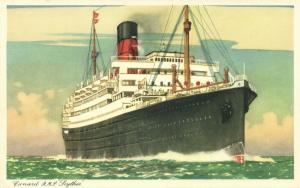 Cunard Line Steamer R.M.S. Royal Mail Steamer Scythia (1940s)