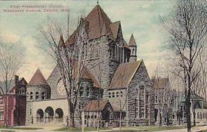 Michigan Detroit First Presbyterian Church Woodward Avenue 1911