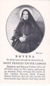 NOVENA, Saint Frances Xavier Cabrini, Prayer Card, 40s