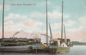 BURLINGTON, Vermont, 1900-10s; Dock Scene