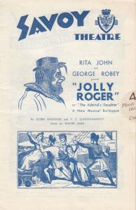 Jolly Roger Jamaica Musical Pirate Ship Antique Sea Burlesque Theatre Programme
