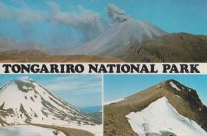 Tongariro National Park Snow Mountains at Christmas New Zealand Postcard