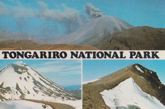Tongariro National Park Snow Mountains at Christmas New Zealand Postcard
