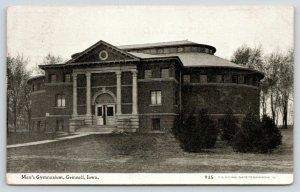 Grinnell Iowa~College~Men's Gymnasium~Door Cracked Open~1908 CU Williams