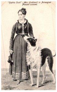 Dog   Sophia Scott with dog