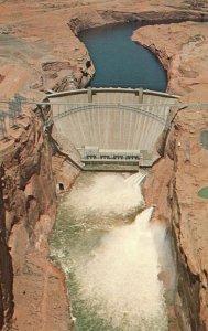 Page, Arizona, AZ, Glen Canyon Dam, Colorado River, Vintage Postcard g5698