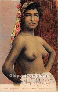 Arab Nude Postcard Jeune Mauresque Unused