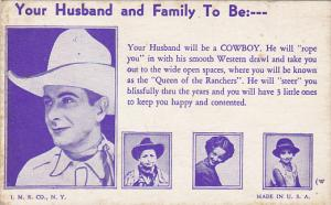 Your Husband To Be Will Be A Cowboy
