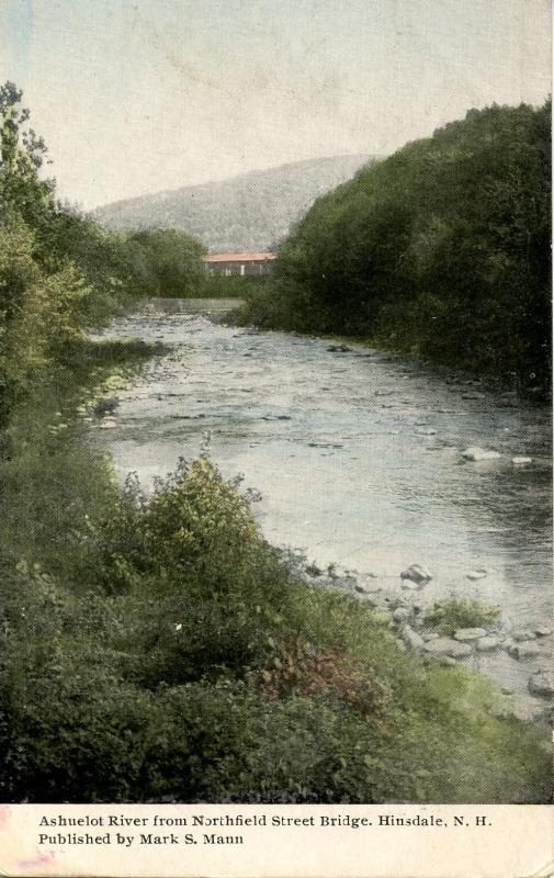 NH - Hinsdale. Ashuelot River from Northfield Street Bridge