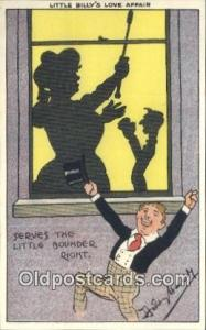 Artist Dudley Hardy Silhouette Postcard Post Card Old Vintage Antique  Artist...
