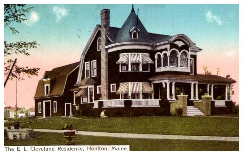 Maine  Houlton  the E L Cleveland residence