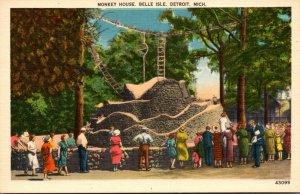 Michigan Detroit Belle Isle Monkey House