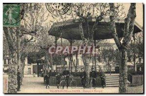 Old Postcard Kiosk music Villefranche Velo Cycle