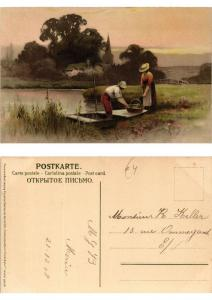 CPA Frohes Schaffen in freier Natur Meissner & Buch Litho Serie 1355 (730445)