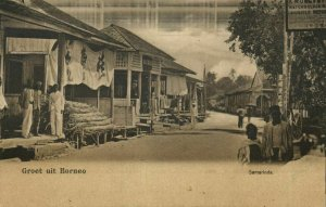 indonesia, BORNEO SAMARINDA, Street Scene (1899) Postcard