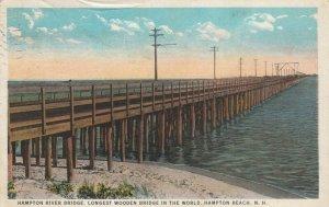 HAMPTON BEACH, NH, PU-1924; Hampton River Bridge, Longest Wooden Bridge # 2