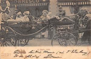 Royalty Princess Maria? Romania Carriage Car Dobrescu 10 Maiu, 1899